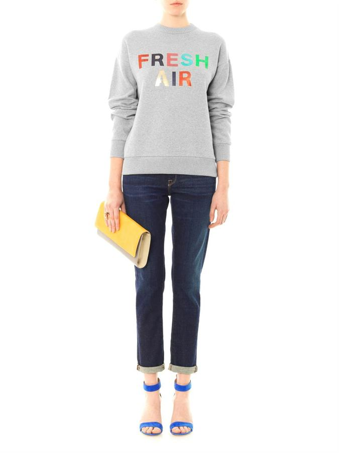 Etre Cécile Fresh air-print cotton sweatshirt
