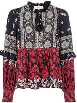 Sea printed flared blouse