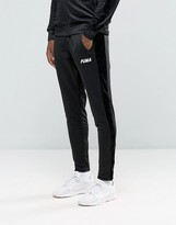Puma Joggers With Velvet Trim In Tapered Fit