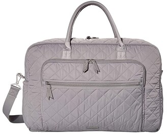 Vera Bradley Iconic Performance Twill Grand Weekend Travel Bag (Tranquil Gray) Bags
