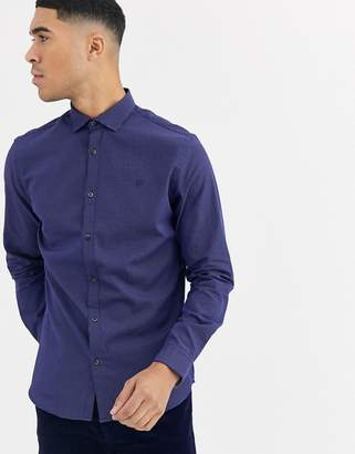 Jack and Jones long sleeve slim fit shirt in navy