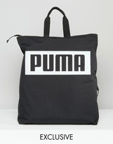 Puma Square Backpack In Black Exclusive To Asos