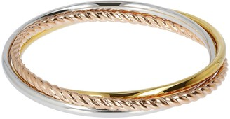 NUOVO Oro Average Slip-On Rolling Bangles, 14KGold Over Resin