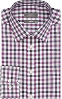 John Lewis Non Iron Bold Check Regular Fit Shirt, Berry/navy