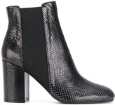 Pollini snakeskin effect Chelsea boots