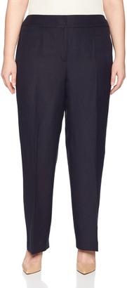 Nine West Women's Plus Neo Classic Linen Pant