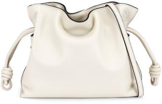 Loewe Flamenco Clutch Mini Bag in Soft White | FWRD