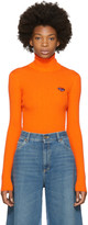 Gucci Orange Fine Wool Turtleneck