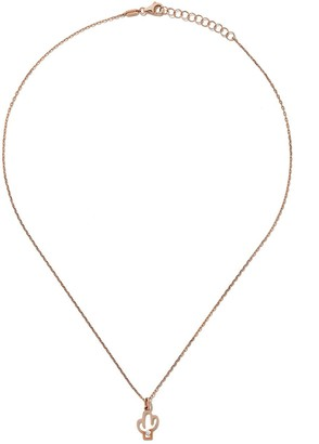 As 29 14kt rose gold diamond Cactus necklace