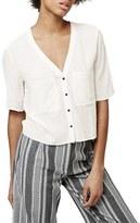 Topshop Women's 'Holly' Short Sleeve V-Neck Shirt