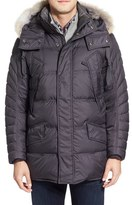 Andrew Marc Men's 'Stowaway' Hooded Parka With Genuine Coyote Fur Trim