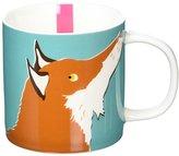 Joules New Bone China Fox Mug, Turquoise