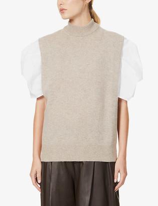 Samsoe & Samsoe Amary high-neck wool vest