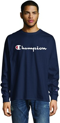 Champion Men's Classic Graphic Long Sleeve TEE