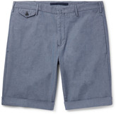 Incotex - Stretch-cotton Chambray Shorts