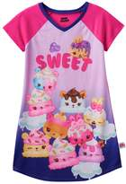"Girls 4-10 Num Noms Berry Cakes, Candie Puffs & Flap Jackie Scented ""Sweet"" Nightgown"