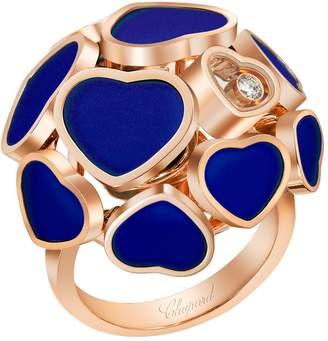 Chopard Rose Gold and Stone Happy Hearts Ring