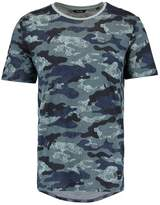 ONLY & SONS ONSHANS CURVED FITTED Print Tshirt arona