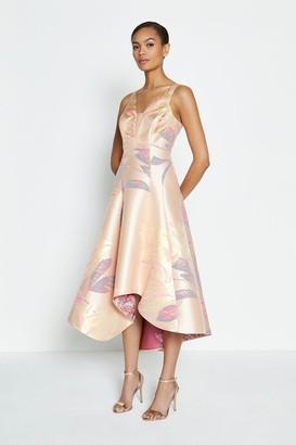 Coast Floral Jacquard V Neck Midi Dress