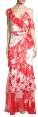 Alice + Olivia Olympia Silk Asymmetric Dress