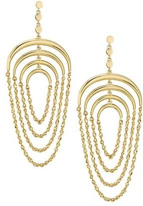 Celara 14K Yellow Gold Chain Mobile Earrings