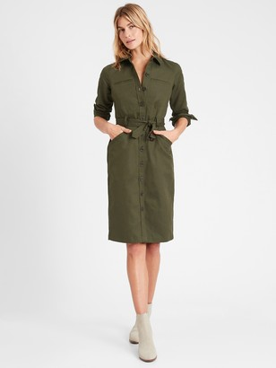 Banana Republic Heritage Cotton-Linen Bahia Dress