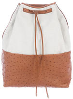 The Row Bicolor Canvas Ostrich Backpack