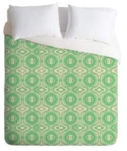 Deny Designs Holli Zollinger Anthology Of Pattern Seville Marble Green King Duvet Set Bedding