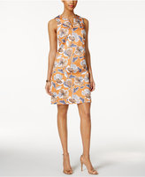 Nine West Split-Neck Floral Dress