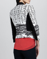 BCBGMAXAZRIA Sleeveless Sheer Silk Top