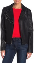 Side Lace-Up Faux Leather Jacket