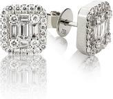 Ice Emerald Shape Diamond Dangle Earrings