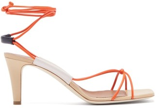 Malone Souliers X Roksanda Camilla Leather Sandals - Womens - Orange Multi