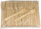 """Perfect Stix Green Fork 158- 1000ct Birchwood Compostable Cutlery Fork, 6"""" Length"""
