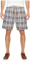 True Grit American Plaid Drawsting Shorts w/ Knit Waistband Men's Shorts