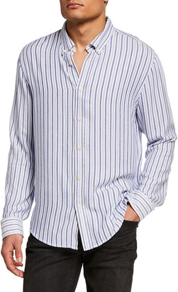 Scotch & Soda Men's Lightweight Striped Sport Shirt