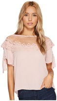 Romeo & Juliet Couture Scalloped Lace Neck Top