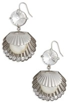 Miu Miu Women's Shell Drop Earrings