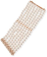 Assael 8-Row Akoya Pearl Bracelet with Diamonds in 18K Rose Gold