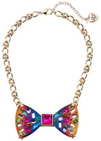 Betsey Johnson Rainbow Bow Frontal Necklace Necklace