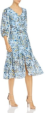 Nanette Lepore Floral Print Button-Front Dress