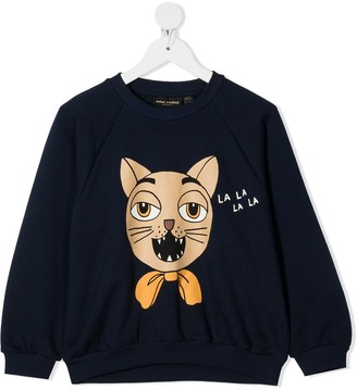 Mini Rodini Cat-Print Sweatshirt