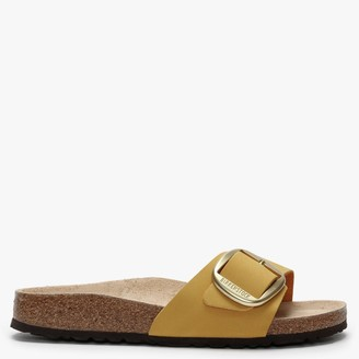 Birkenstock Madrid Big Buckle Ochre Leather Mules