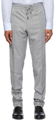 Ermenegildo Zegna Grey Wool Drawstring Trousers