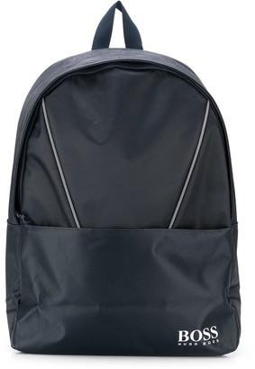 Boss Kids Zip-Around Logo Backpack