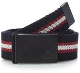 Fred Perry Black Striped Webbing Belt