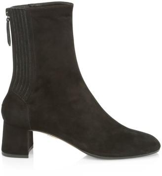 Aquazzura Saint Honore Suede Ankle Boots