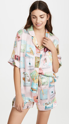 Karen Mabon Book Covers Short Sleeve Pajamas