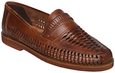 Bertie Bryant Park Woven Leather Moccasins, Tan