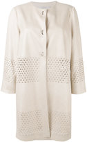 D-Exterior D.Exterior - eyelet detail coat - women - Polyester/Polyurethane/Viscose - 46